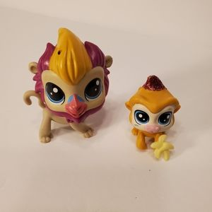 Littlest Pet Shop Beardly Baboon and Impley Baboon
